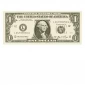 Vektor - jeden dolarové bankovky, izolovaných na bílém