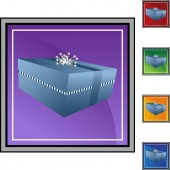 Gift Box  web button isolated on a background