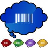 Barcode icon web button isolated on a background