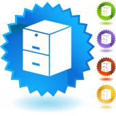 Filing Cabinet web button isolated on a background