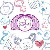 Ruky nakreslené ilustrace osobnosti