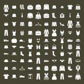 Nastaven oblečení ikonu vektor, vektor kolekce módní značky a symboly