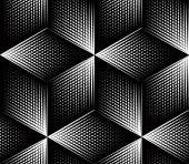 Abstract geometric black and white 3d background