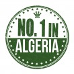 Постер, плакат: Number one in Algeria stamp