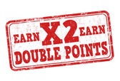 Získejte x 2 dvojnásobek bodů známka