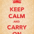 Постер, плакат: Red keep calm and carry on poster