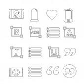 Sada webových ikon pro webové stránky a komunikaci
