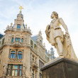 Постер, плакат: Statue of the famous painter Anthony Van Dyck on the Meir in Ant