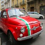 Постер, плакат: Fiat 500 in Bari Italy