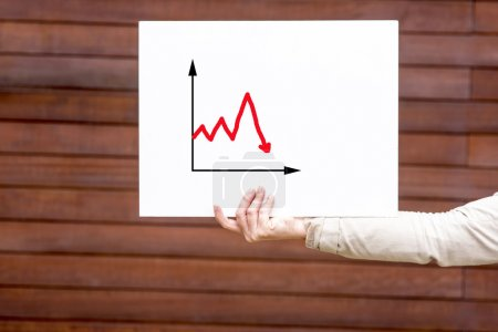 Woman presenting statistical analysis