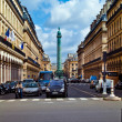 Постер, плакат: Vendome column with statue of Napoleon Bonaparte on the Place V