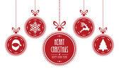 Vánoční koule červené, samostatný pozadí