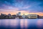 Savannah, Georgia Riverfont Skyline