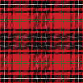 Vector seamless pattern Scottish tartan red and green blue and yellow