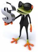 Žába s znak dolaru