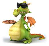 Zábavné drak s pizzou