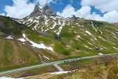 Summer mountain sunny landscape (Warth, Austria)