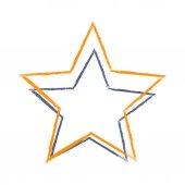 Barevný Grunge hvězdy