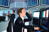 Aktienhändler bei stress