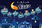 Egészségügyi elónyei alvás Infographic