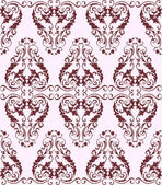 Bezešvé vínové damaškové vzorek na světlém pozadí