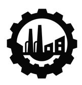Vector black Industry icon on white background