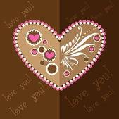 Original vector illustration with hearts on a white background