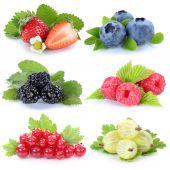 Sběr plodů jahody borůvky, červený rybíz Berry