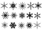 Frosted Snowflake Elements 3 of 4 (Snowflakes are grouped for easy coloring and use with other vectors