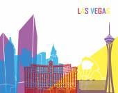 Las Vegas skyline pop in editable vector file