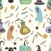 Halloween pumpkin pattern 01 in editable vector file