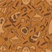 Halloween pumpkin pattern 02 in editable vector file
