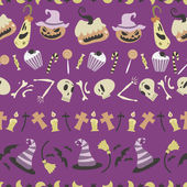 Halloween pattern 01 in editable vector file