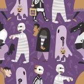 Halloween pattern 05 in editable vector file