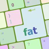 Computer keyboard with a word fat vector illustration