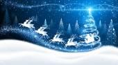 Weihnachten Hintergrund mit dem Weihnachtsmann