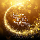 Christmas background with gold magic star Vector illustration
