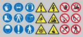 Vector pack of different work safety signs