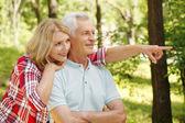 Starší žena, zahrnující její starší muž