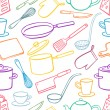 Постер, плакат: Background with kitchen utensils 2