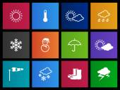Weather icons set in Metro style
