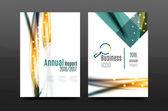 Swirl wave annual report for business correspondence letter Flyer design Vector illustration
