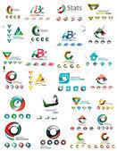 Abstraktní společnost logo mega kolekce