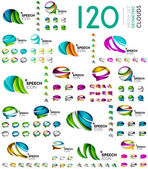 Speech bubble mega set, clouds. Colorful geometric design, icon or company logo collection
