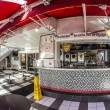 Постер, плакат: Johnny Rockets restaurant at ocean drive 728 in Miami