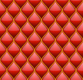 Red with Gold Quilted Leather Seamless Background Vector illustration
