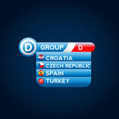 European groups Soccer vector