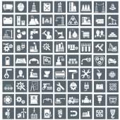 Ipar-, energia- és építési ikonok beállítása, az ipari és műszaki