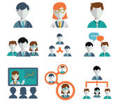Vector illustration set of management and human resources icons