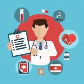 Lapos egészségügyi ellátás és az orvosi kutatási háttér. Egészségügyi sys